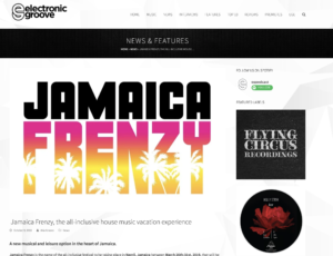 Jamaica Frenzy 2019 Press: Electronic Groove