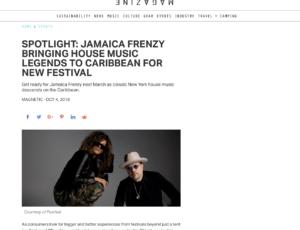 Jamaica Frenzy 2019 Press: Magnetic Magazine
